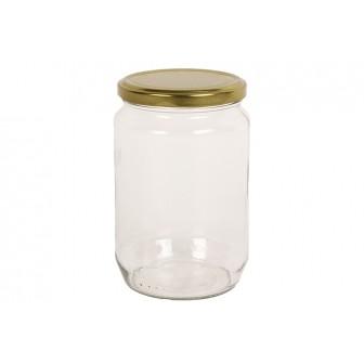 Βάζο Γυάλινο Με Μεταλλικό Καπάκι 370ml