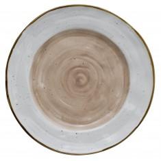 Πιατέλα Στρογγυλή 30cm New Bone China Country Peach