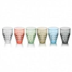 Ποτήρια Νερού - Αναψυκτικού Tiffany Σετ 6τμχ 510ml Χρωματιστά Guzzin