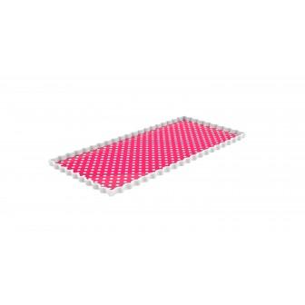Πιατέλα Ορθογώνια Dotty Φούξια Zak Design