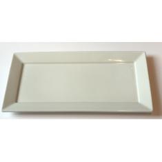 Πιατέλα Πορσελάνης Ορθογώνια Λευκή 30cm