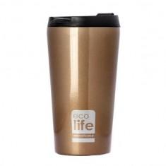 Θερμός Ποτήρι Eco Life Ανοξείδωτο Bronze 370ml