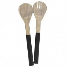 Σετ Κουτάλες Σαλάτας Bamboo Black Marva Home