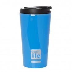 Θερμός Ποτήρι Eco Life Ανοξείδωτο Blue Mat 370ml