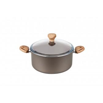 Χύτρα Αντικολλητική Olive Με Γυάλινο Καπάκι 28cm Fest