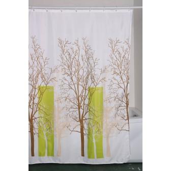 Κουρτίνα Μπάνιου Υφασμάτινη 180x200cm Δάσος