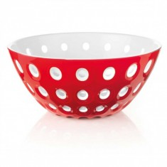 Μπολ Ακρυλλικό Guzzini 25cm Le Murrine Red - White