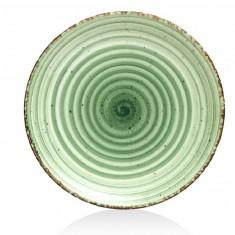 Πιατέλα Στρογγυλή Πορσελάνης Avanos Green 30cm Gural