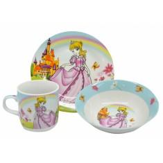 Σετ Φαγητού BeBe Princess Πορσελάνης 3Τμχ