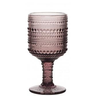 Ποτήρι Νερού-Κρασιού Σετ 6τμχ. Drops 215ml Purple
