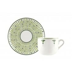 Φλυτζάνι & Πιάτο Καφέ Alkisti Σετ 6τμχ Ionia