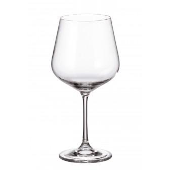 Ποτήρι Κόκκινου Κρασιού Βουργουνδίας Strix Κρυστάλλινο Σετ 6 Τμχ 600ml Bohemia