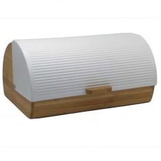 Ψωμιέρα Stripes Λευκη Bamboo Marva Home