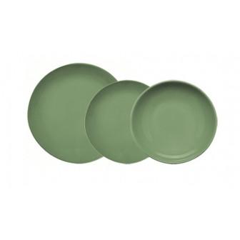 Σερβίτσιο Φαγητού Alfa Σετ 18τμχ Πράσινο Happy Ware