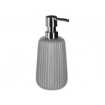 Dispencer Θήκη Για Κρεμοσάπουνο Κεραμικό Stripes Grey