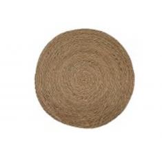 Σουπλά Ψάθινο Στρογγυλό Seagrass Μπεζ 35cm