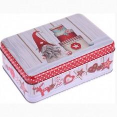 Κουτί Μεταλλικό Ορθογώνιο Χριστουγεννιάτικο Gnome 22cm