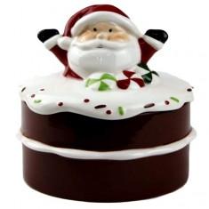 Μπισκοτιέρα Κεραμική Άγιος Βασίλης Cupcake Μικρή