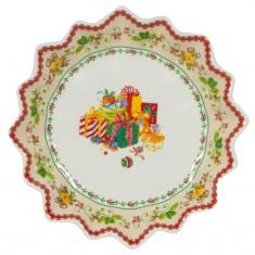 Πιατέλα Στρογγυλή Gift Three 23.4cm New Bone China