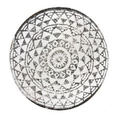 Χαλάκι Geometric Στρογγυλό Βαμβακερό Grey 60cm