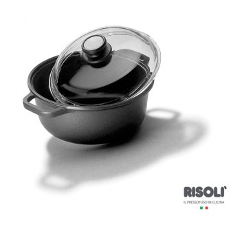 Χύτρα Αντικολλητική Blackplus 24cm Risoli