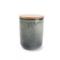Βάζο Για Καφέ & Ζάχαρη Πορσελάνης Meridian 1,1lt Salt & Pepper