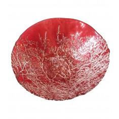 Μπολ Γυάλινο Χριστουγενιάτικο Κόκκινο 24cm Marva Home
