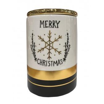 Βάζο Χριστουγεννιάτικο Κεραμικό Holly Jolly