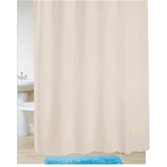 Κουρτίνα Μπάνιου Υφασμάτινη Μονόχρωμη Εκρού 180x200cm