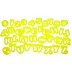 κουπ-πατ σετ 36τεμάχια γράμματα & αριθμοί kitchencraft