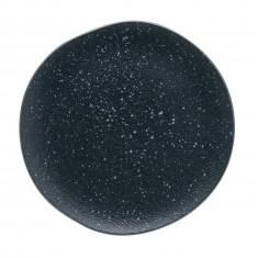Πιάτο Ρηχό Πορσελάνης Iron Granite Μπλε Μπεζ 24cm