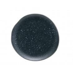 Πιάτο Φρούτου Πορσελάνης Iron Granite Μπλε Μπεζ 26cm