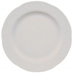 πιάτο πορσελάνης ρηχό 25cm λευκό flora