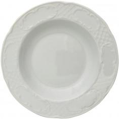 πιάτο πορσελάνης βαθύ 23cm λευκό flora