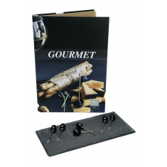 Πέτρινο Πλατό Τυριών Με 6 πιρουνάκια Τυριού Βιβλίο Gourmet Vol 4