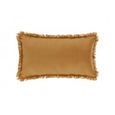 Μαξιλάρι Διακοσμητικό Υφασμάτινο Με Κρόσι Κίτρινο 30Χ50