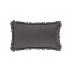 Μαξιλάρι Διακοσμητικό Υφασμάτινο Με Κρόσι Σκούρο Γκρι 30Χ50 Atmosphera