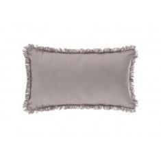 Μαξιλάρι Διακοσμητικό Υφασμάτινο Με Κρόσι Γκρι 30Χ50 Atmosphera