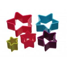 κουπ-πατ σετ 5 τεμάχια αστέρι colourworks by kitchencraft