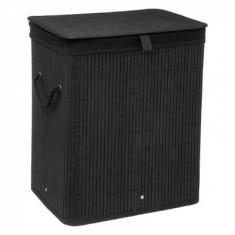 Καλάθι απλύτων Bamboo Τετράγωνο Black 5Five