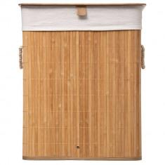 Καλάθι απλύτων Bamboo Τετράγωνο Natural 5Five
