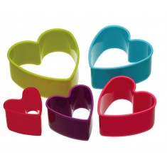 κουπ-πατ σετ 5 τεμάχια καρδιά colourworks by kitchencraft