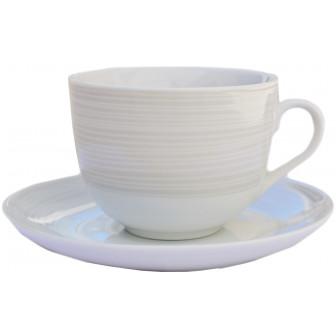 Φλυτζάνι & Πιάτο Τσαγιού Orbit Grey Σετ 6τμχ