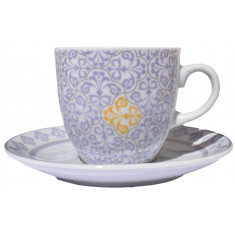 Φλυτζάνι & Πιάτο Τσαγιού Purple Flower Σετ 6τμχ.