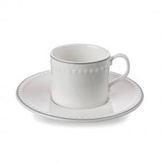 Φλυτζάνι & Πιάτο Espresso Πορσελάνης Mary Berry Signature 50ml