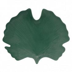 Πιατέλα Πορσελάνης Leaves Σκούρο Πράσινο R2S 35cm