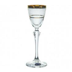 Ποτήρι Λικέρ Κρυστάλλινο Bohemia 70ml Σετ 6Τμχ Elisabeth Gold