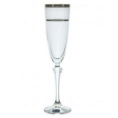 Ποτήρι Σαμπάνιας Κρυστάλλινο Bohemia 200ml Σετ 6Τμχ Elisabeth Platin