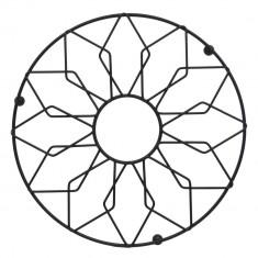 Σουπλά Μεταλλικό Στρογγυλό Μαύρο 21cm