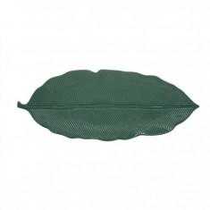 Πιατέλα Πορσελάνης Leaves Σκούρο Πράσινη R2S 47cm
